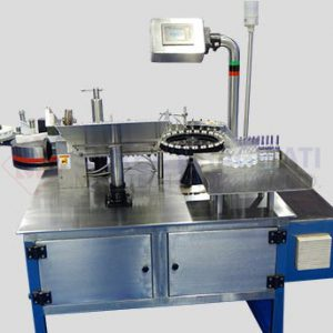 Automatic High Speed Vertical Rotary Ampoule / Vial Sticker Labelling Machine