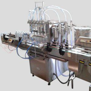 Twin Track Twelve Head Liquid Filling Machine For Bottles