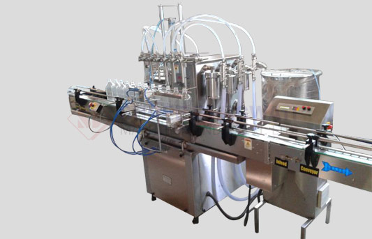 Twin Track Twelve Head Liquid Filling Machine For Bottles